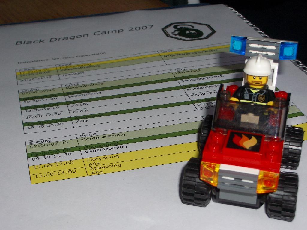 Brandbilen og programmet...