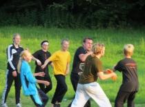 Frisbee kamp lørdag aften