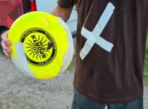 Og frisbee'en gik også i stykker...