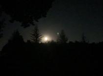 Næsten fuldmåne inden nattræningen går i gang...