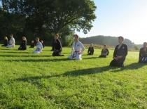 Meditation efter morgentræningen...