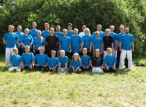 SGC krigerne i de blå SGC t-shirts.