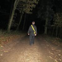 Alene i skoven en mørk aften...