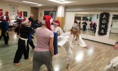 Juleafslutningstræning for ungerne